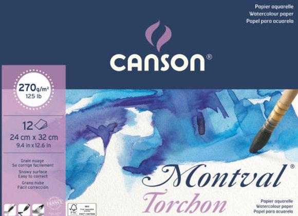 Canson Montval Torchon Snowy Grain 200g 12 ark