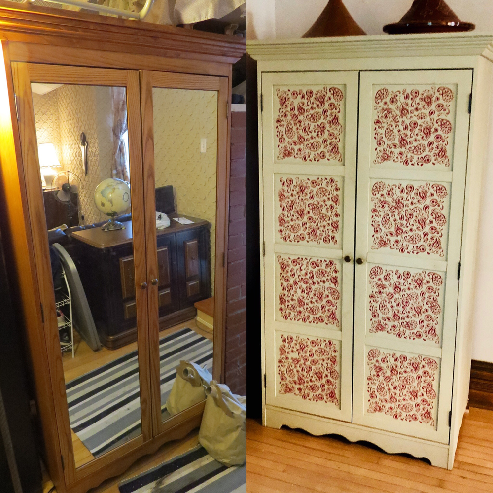 Diy furniture transformation transformer une armoire - Transformer une armoire en bureau ...