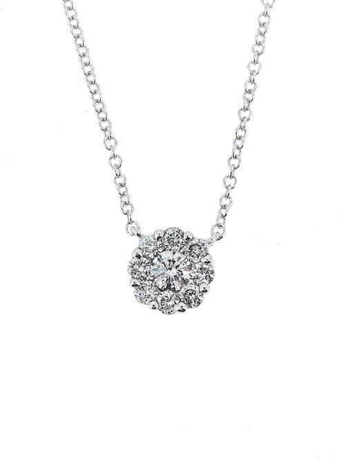 Diamond Cluster Pendant .33ct