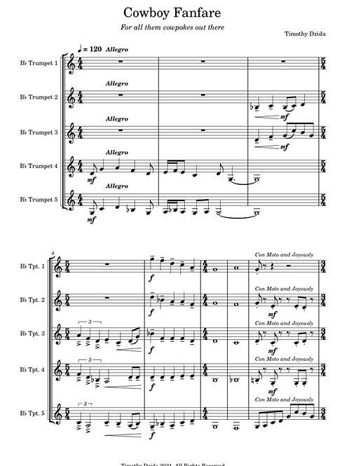 Cowboy Fanfare for Trumpet Ensemble