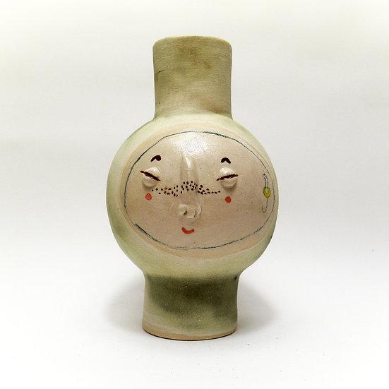 Smokey Grey Kindface Vase