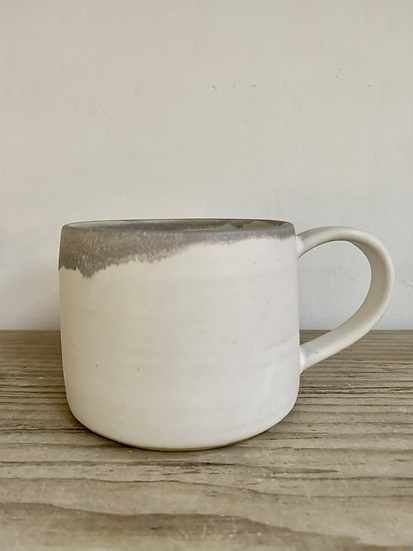 Grey /white stoneware mug