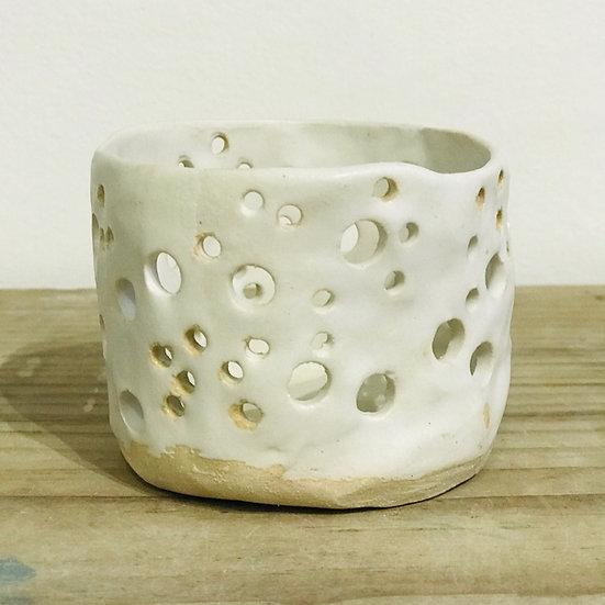 White Toasted Dolomite Tea Light