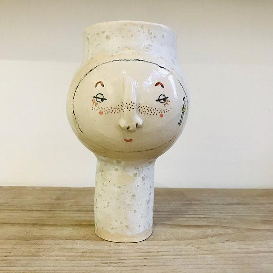 Seasalt Glaze Wide Top Kindface Vase