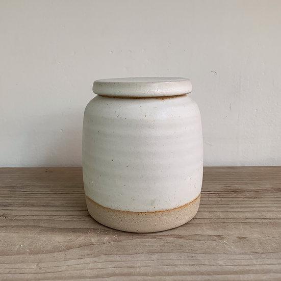 Store Jar / Ginger Jar. Stoneware Dolomite Glaze