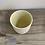 Thumbnail: Porcelain beaker yellow inside