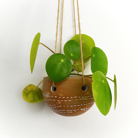 Small Stitched Hanging Planter