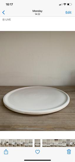 Stoneware toast plate