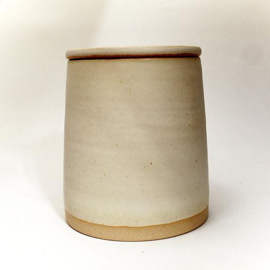 Plain Store Jar Stoneware Dolomite Glaze