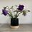 Thumbnail: Flat top bud vase. Black glazed