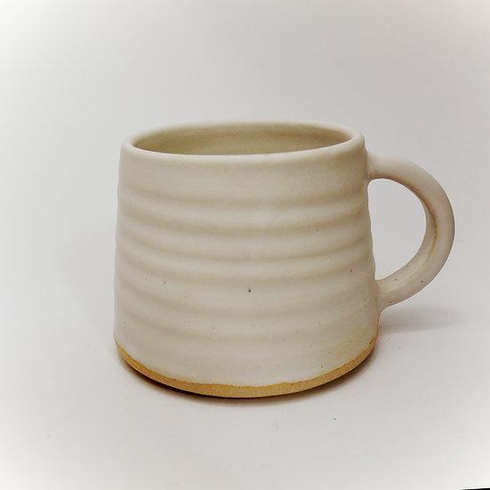 White Stoneware Mug With Throw Rings