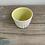 Thumbnail: Carved porcelain beaker yellow inside