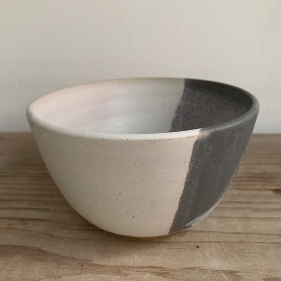 Grey And White Tea Bowl / Ice Cream Bowl