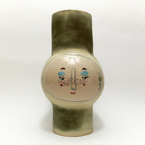 Medium Smokey Grey Kindface Vase