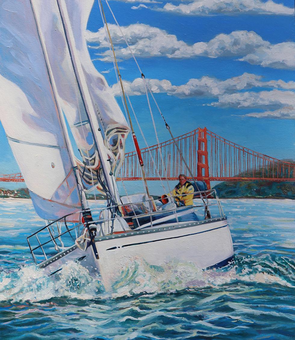 Sailing San Francisco Bay  18x24