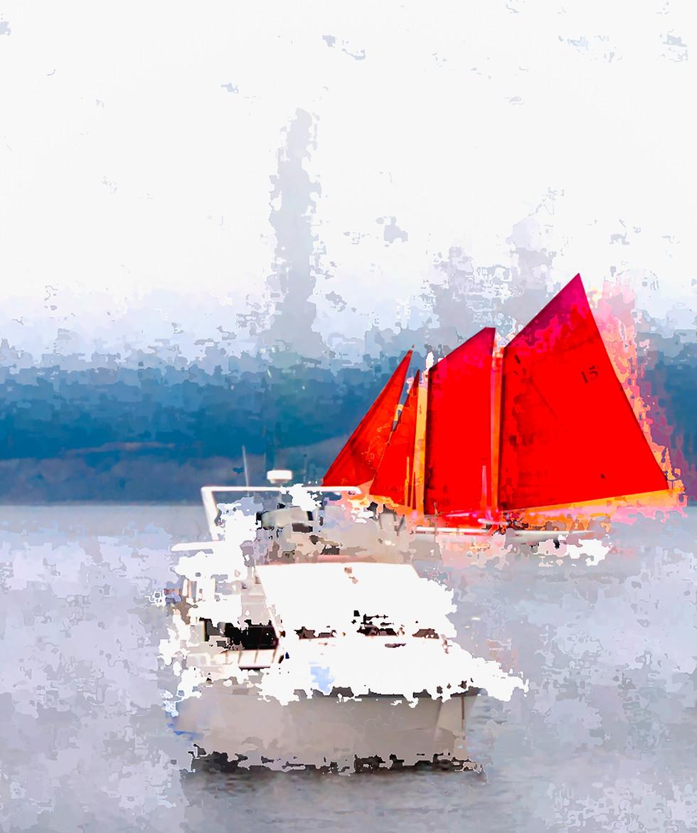 Boats  Canvas Print  11x14