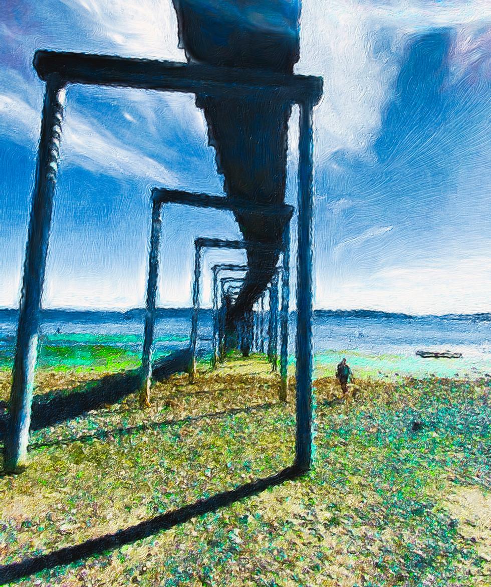 Under Boardwalk No 1  Canvas Print  11x14