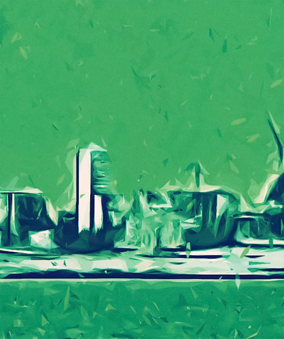 Bedrock, Seattle, Canvas Print  20x48