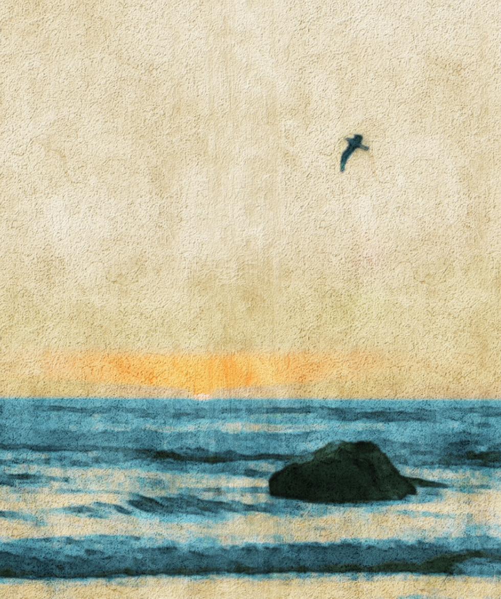 Crayon Sky  Canvas Print  24x36