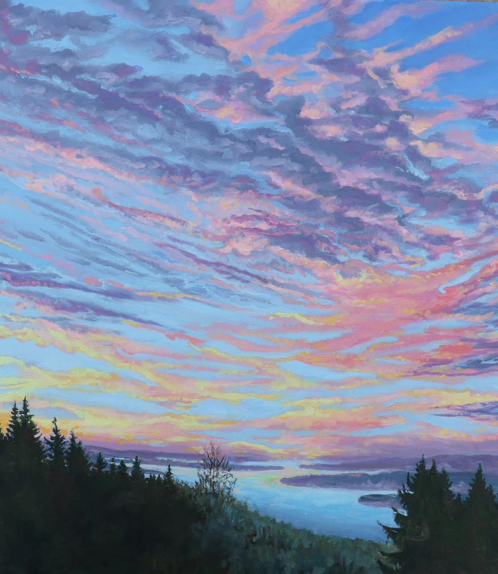 Sunset on the Columbia  16x20x1.63