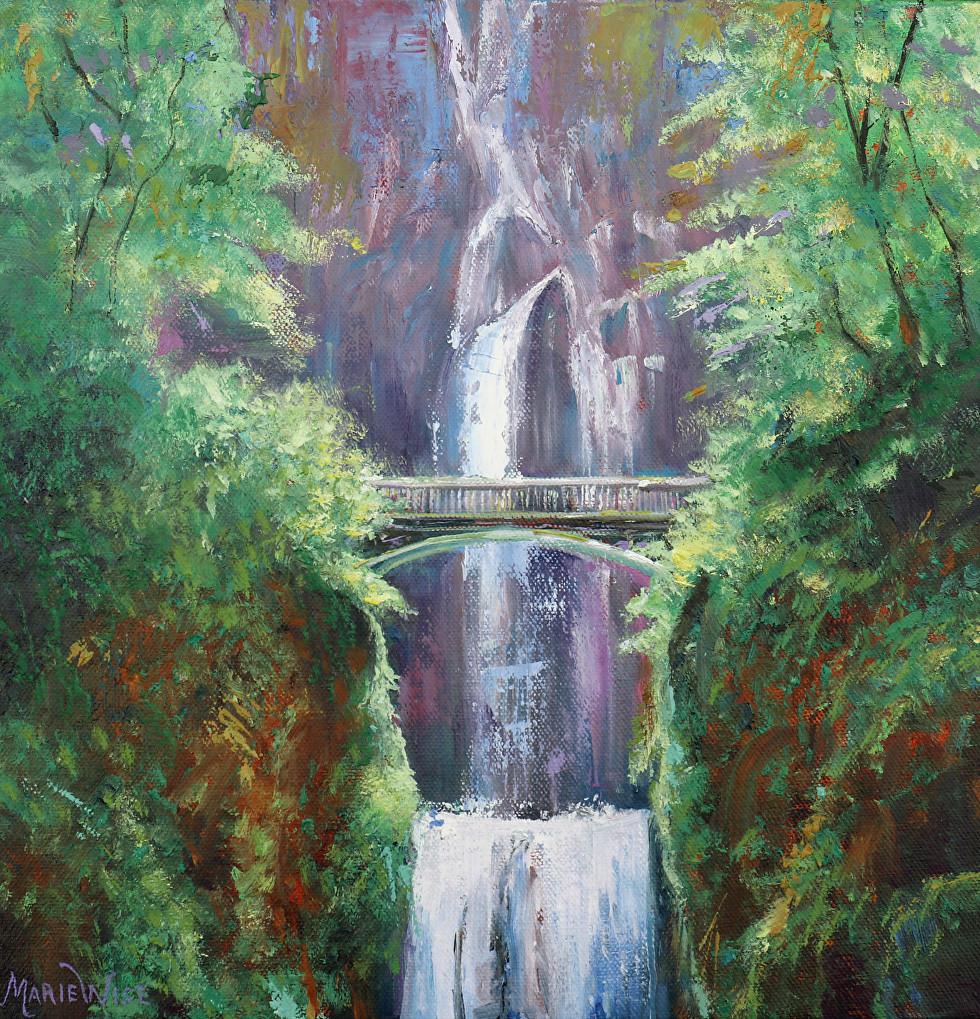 Multnomah Falls, Oregon 12x 12