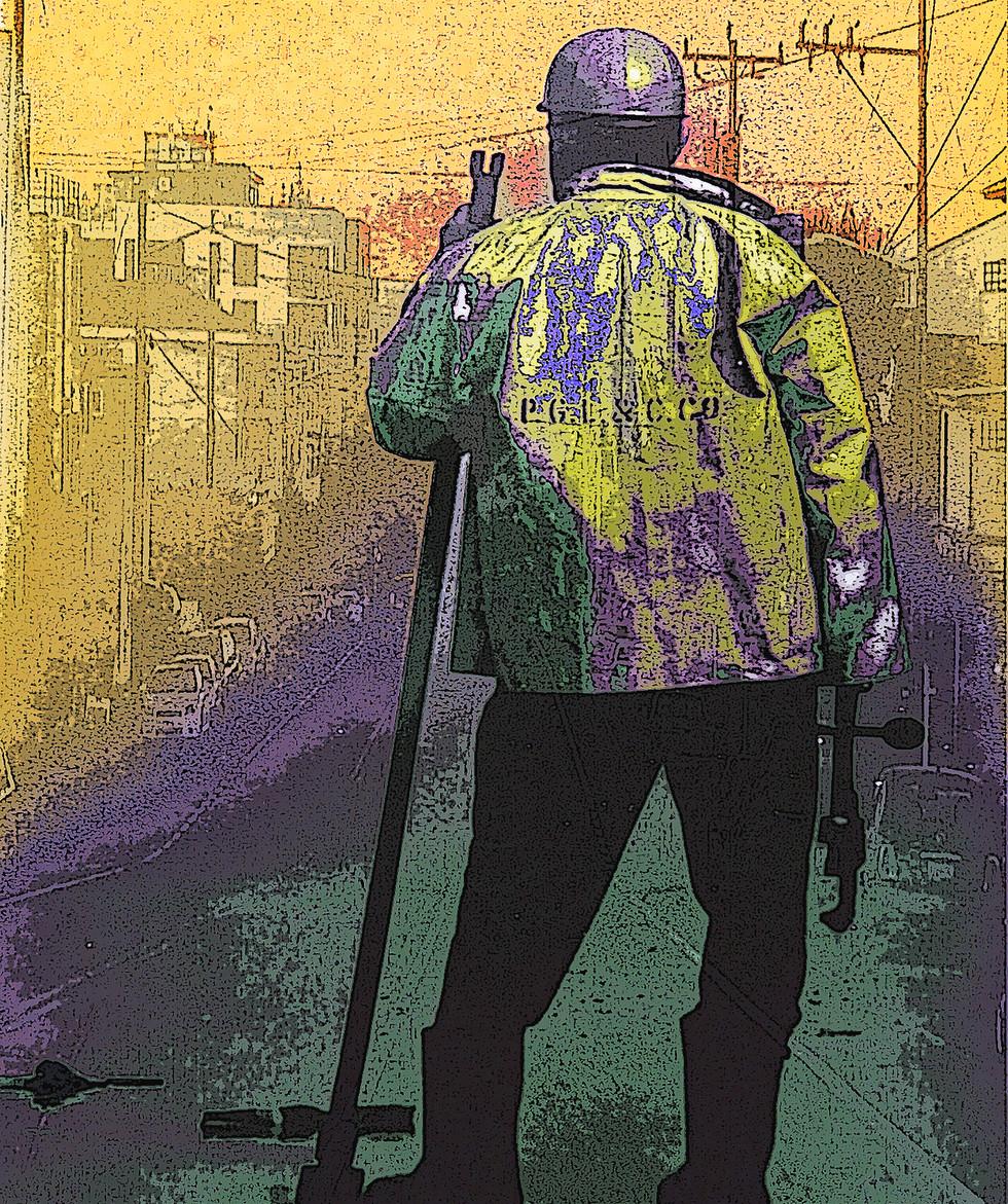 Man at Work, Canvas Print  24x36