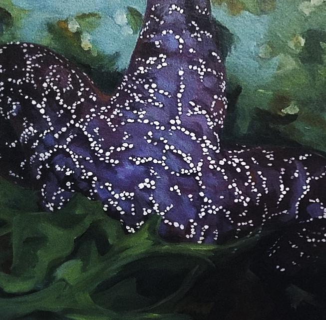 Purple Bouquet, Acrylic on canvas 20x20