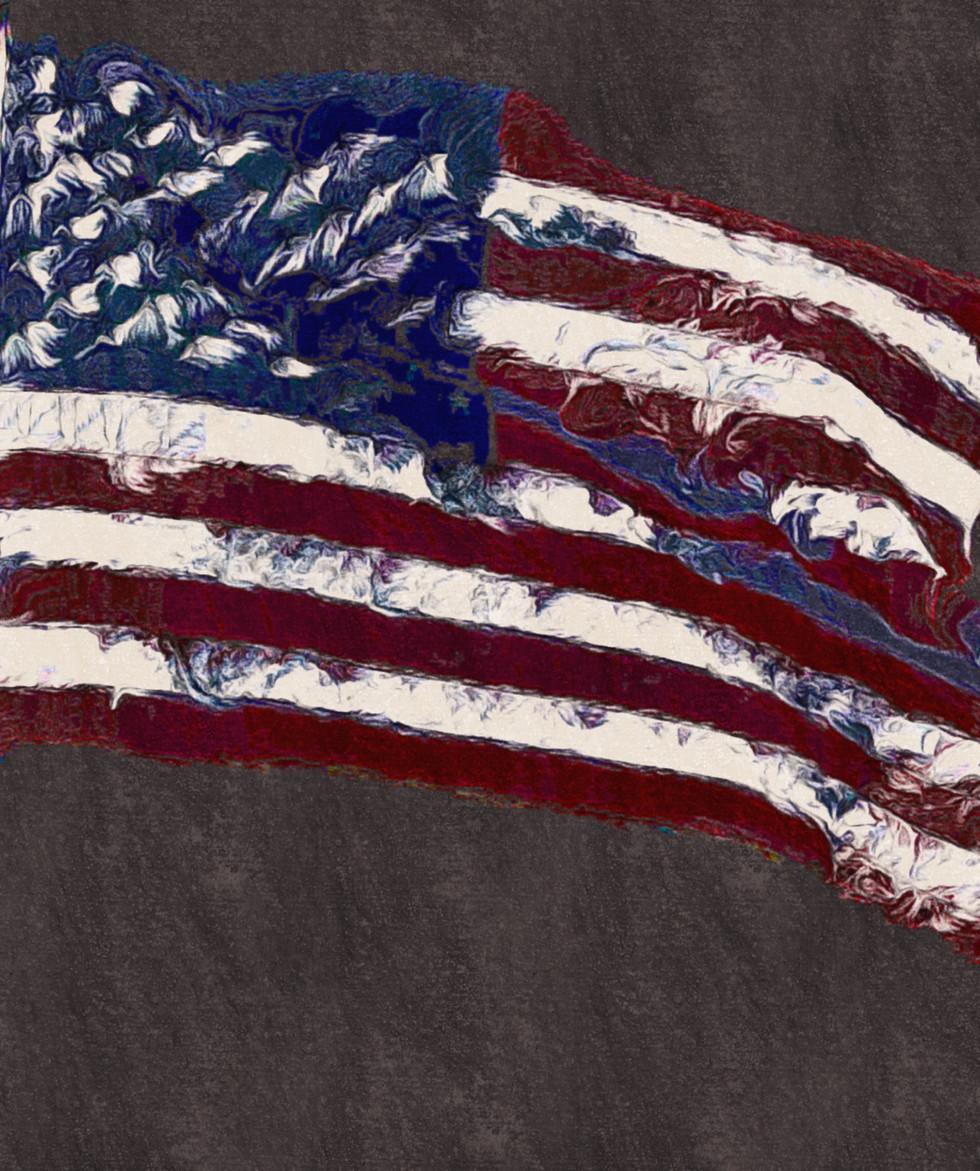 Flag # 4,  Glass print 23x23