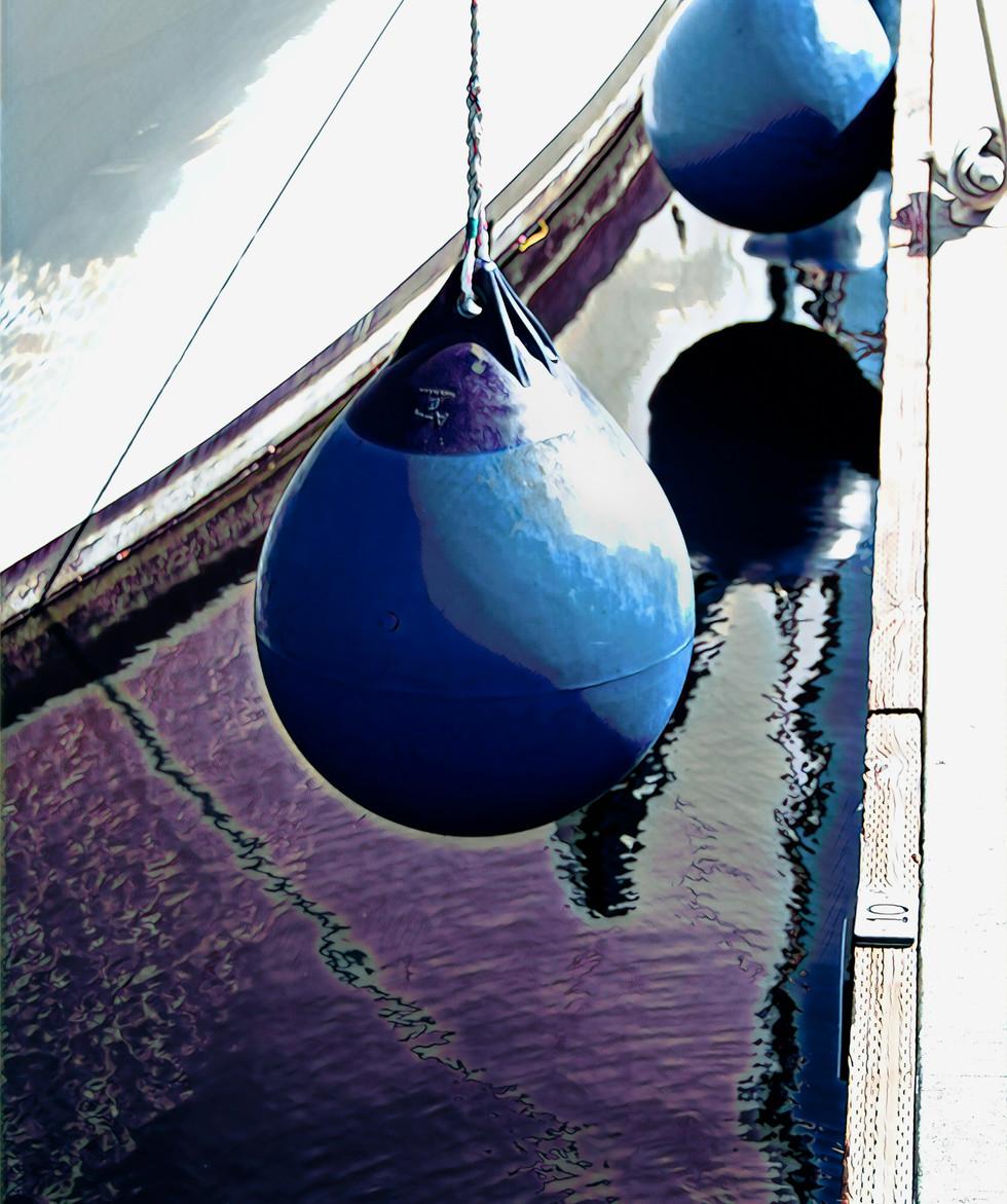 Boat Bumpers, Acrylic Print  24x30