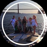 Catamaran passageiros lazy lisbon cruises