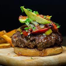 Pepper jelly burger