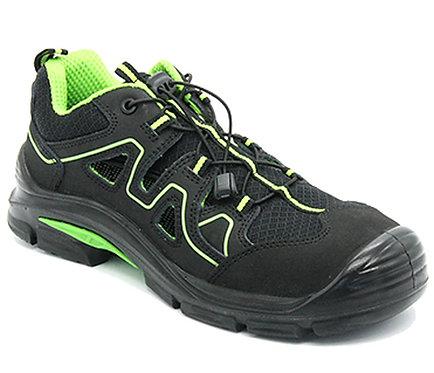 Arbeitsschuhe RALLOX 576 Sandalen S1P schwarz grün