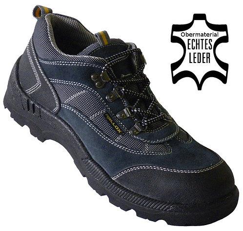 Arbeitsschuhe RALLOX 8010 S1P grau blau echt Leder