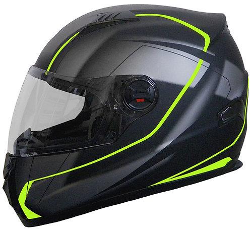 Integralhelm RALLOX 807 matt schwarz neon grün