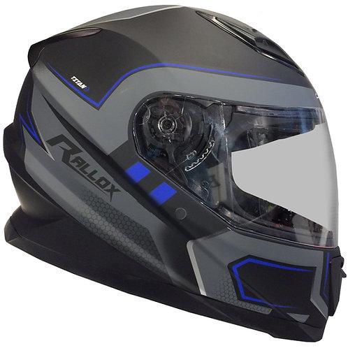 Integralhelm RALLOX 62 matt grau blau