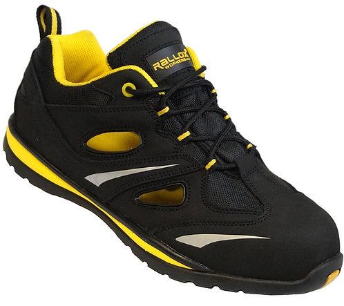 Arbeitsschuhe RALLOX 3009 Sandalen S1P schwarz gelb