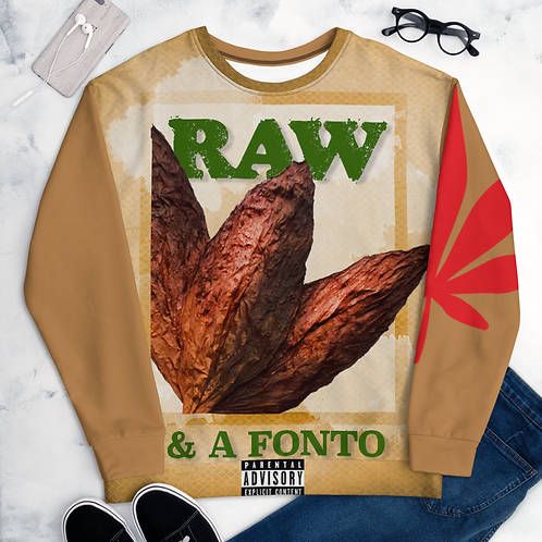 """Raw & A Fonto""/  Red Leaf Sweatshirt"