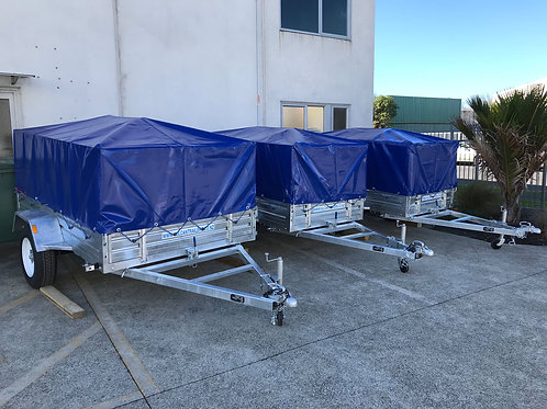 Vulcan Trailer - Caged, Welded & Bolted Fitted PVC Cover & Cross Bars