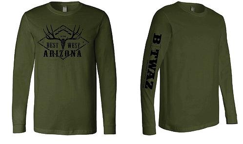 Long Sleeve antler T-shirt (Multiple Colors)