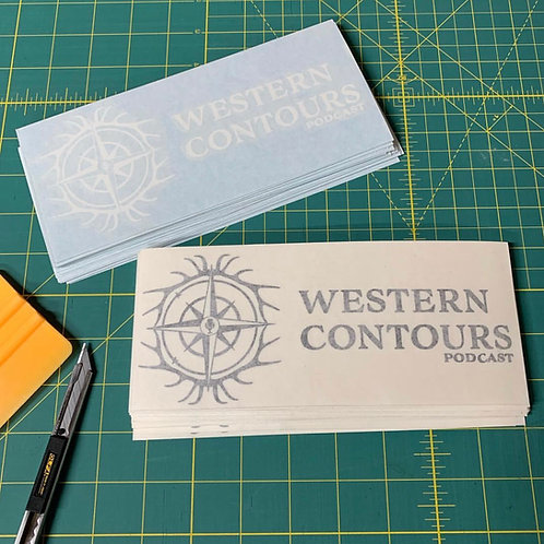 Western Contours transfer decal