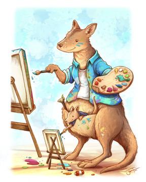 Wallabys Painting