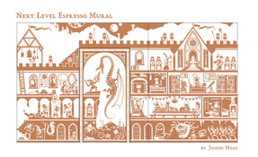 Nexl Level Espresso Mural
