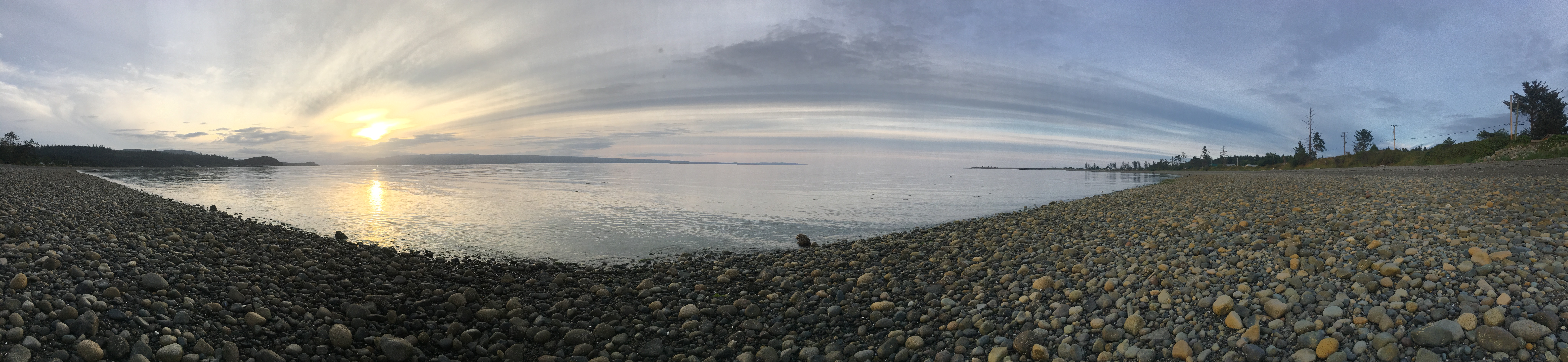 Sandspit beach at sunset