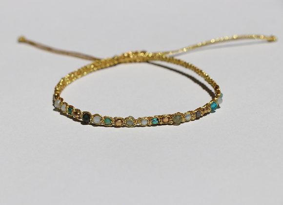 bracelet pierres sur cordelette réglable
