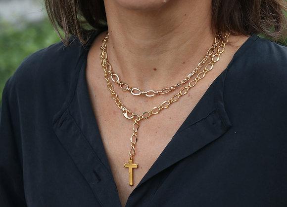 collier court chaîne luxe dorée