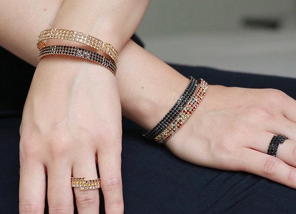 bracelet strass 3 rangs