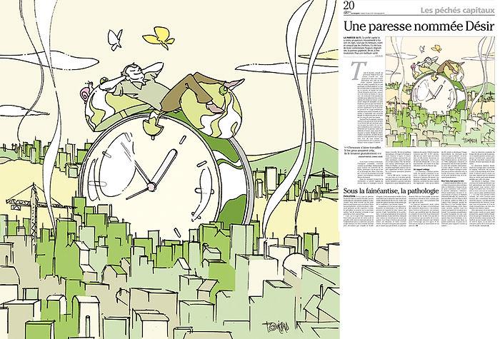 La_paresse_Frédéric_Michaud_illustration