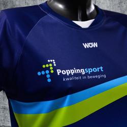 Popping sport shirt detail