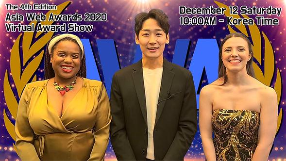 Asia Web Awards 2020 Award show hosts sk