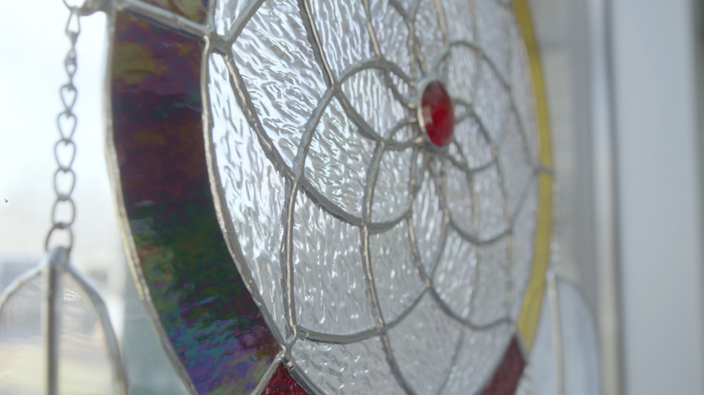 Stained Glass Dreamcatcher by Renee Jewell